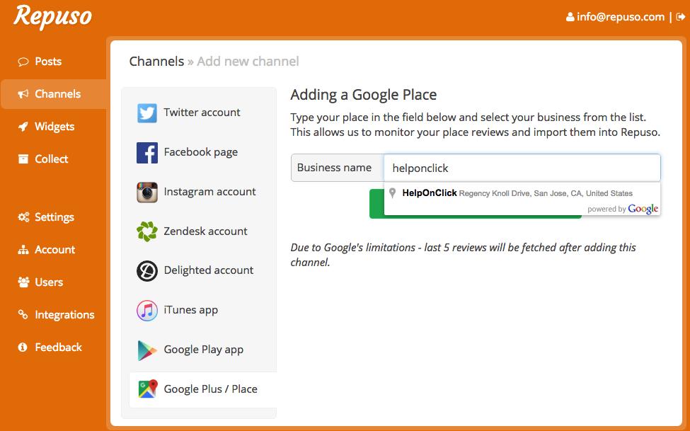 Introducing Google Places Integration - Repuso Blog